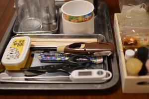 作業に使う器具